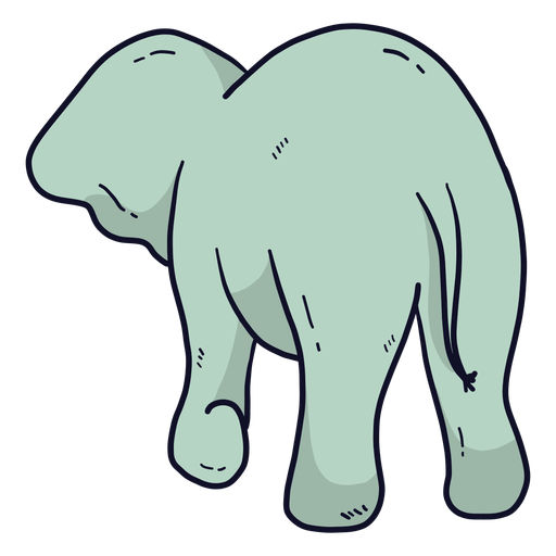 Cute elephant ear tail flat Transparent PNG