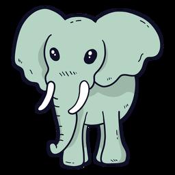 Niedlicher Elefanten-Elfenbeinohrkoffer flach