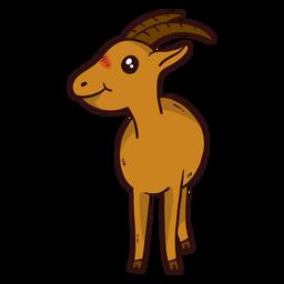 Cute goat hoof horn flat