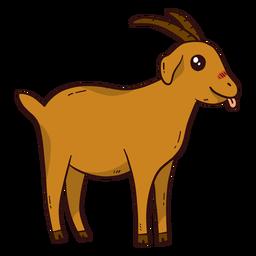 Chifre de chifre de cabra bonito língua de língua plana