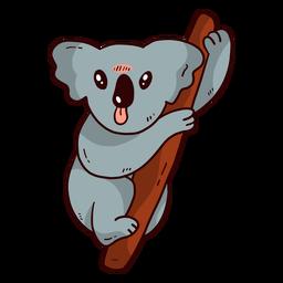 Lindo koala oreja pierna nariz rama plana