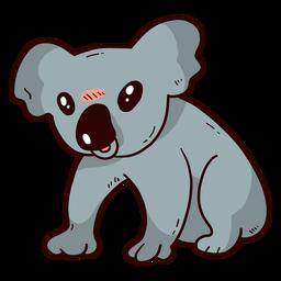 Cute koala ear leg nose flat