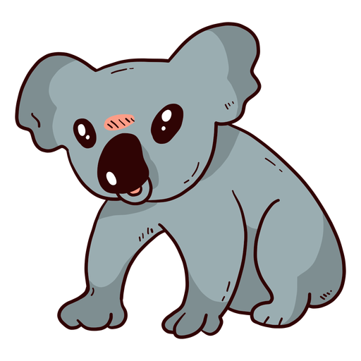 Cute koala ear leg nose flat  Transparent PNG
