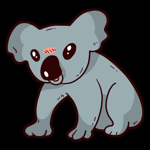 Niedliche Koala-Ohrbeine flach Transparent PNG