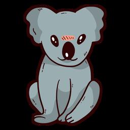 Cute koala leg ear nose flat