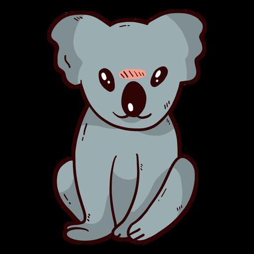 Niedliche Koala-Beinohrnase flach Transparent PNG