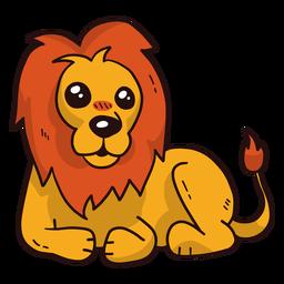 Rei leão fofo juba língua cauda achatada