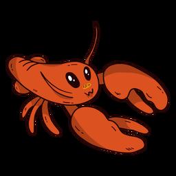Garra de antena de lagosta fofo plana