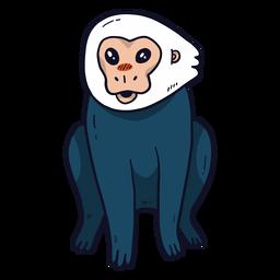 Cute monkey leg flat