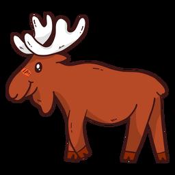 Cute moose elk antler hoof flat