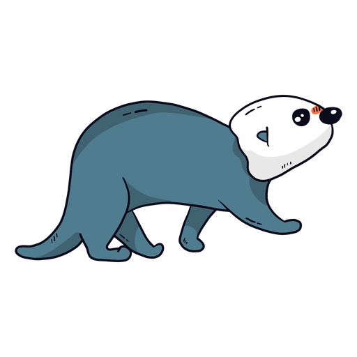 Cute otter sea otter muzzle tail flat Transparent PNG