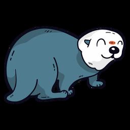 Cute otter sea otter tail muzzle flat