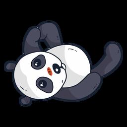 Lindo panda bozal mancha grasa plana