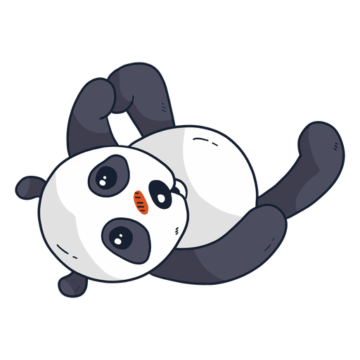 Cute panda muzzle spot fat flat Transparent PNG