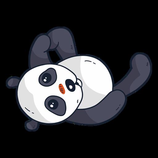 Cute panda muzzle spot fat flat