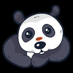 Niedliche Panda-Mündungsstelle flach