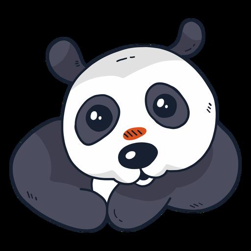 Cute panda muzzle spot flat Transparent PNG