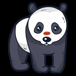 Süße Panda-Schnauze flach