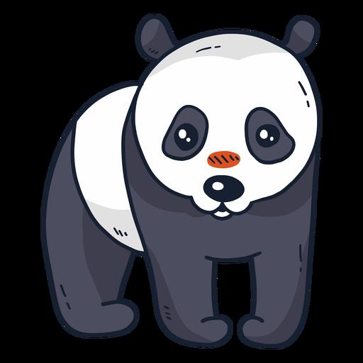 Lindo hocico de panda plano Transparent PNG