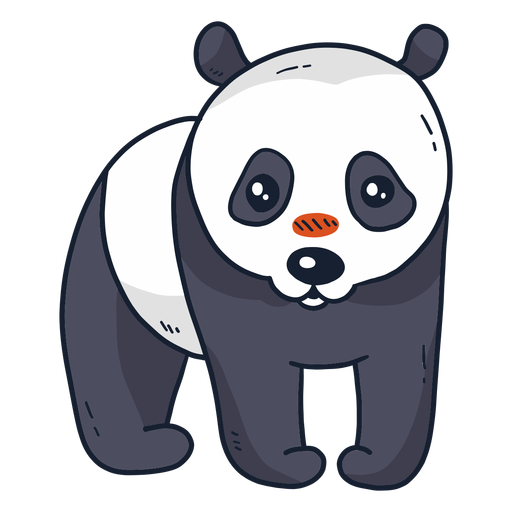 Lindo panda punto bozal plana Transparent PNG