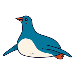 Lindo penguin pico ala grasa plana