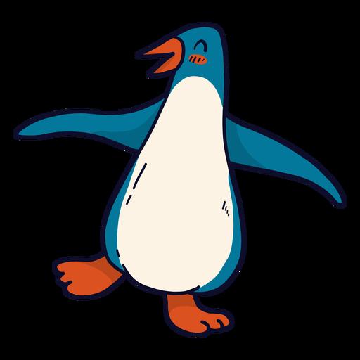 Lindo pingüino pico ala feliz gordo plano