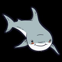 Cauda de barbatana de tubarão bonito plana