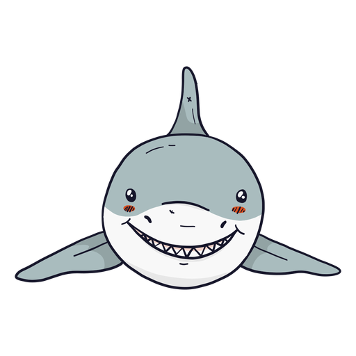 Cute shark fin tooth flat Transparent PNG