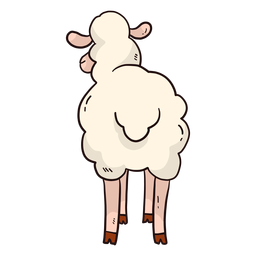 Cauda de casco de ovelha bonito cauda de cordeiro plana