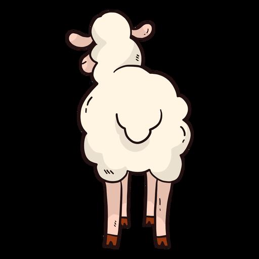 Cute sheep hoof wool lamb tail flat Transparent PNG