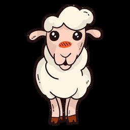 Linda oveja cordero pez lana plana