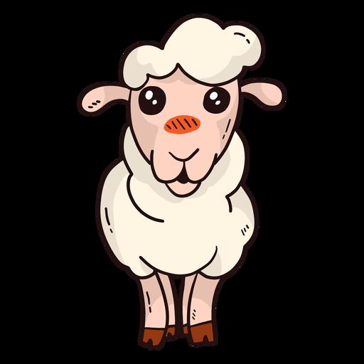Lindo llano de lana con pezuña de cordero oveja