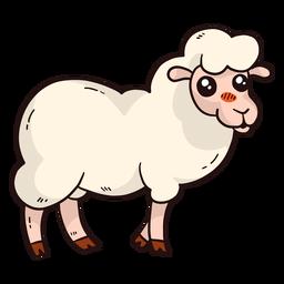 Casco de cordeiro de lã de ovelha bonito plana