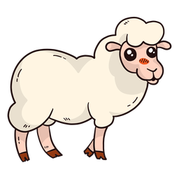 Niedlicher Schafwolle Lammhuf flach