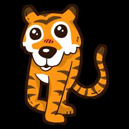 Linda cola de rayas de tigre plana