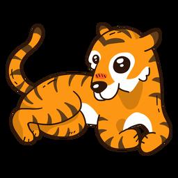 Listra de cauda de tigre bonito plana