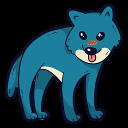 Lengua de cola de depredador lobo lindo plana