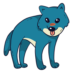 Lobo bonito predador cauda língua plana