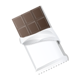 Dark chocolate chocolate bar chocolate brick illustration