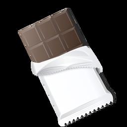 Dunkle Schokoladenschokoriegelschokoladenziegelsteinillustration