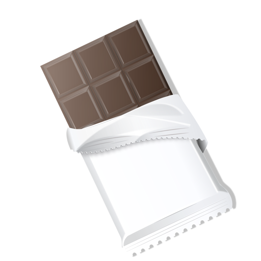 Dark chocolate chocolate bar chocolate brick illustration Transparent PNG