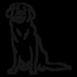 Esboço de língua de rabo de orelha de cão
