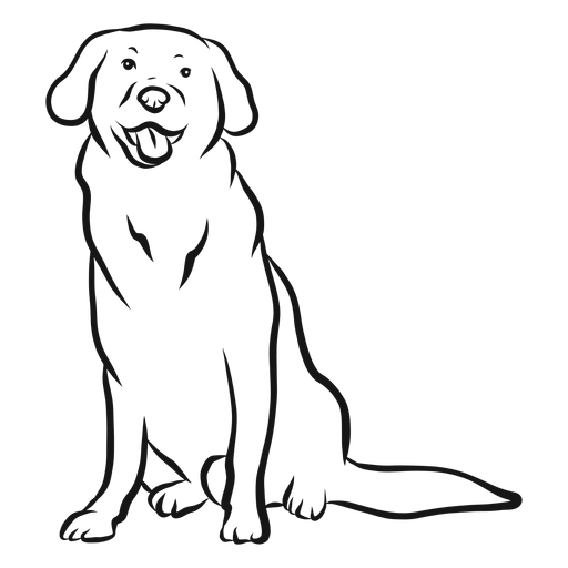 Dog ear tail tongue sketch Transparent PNG