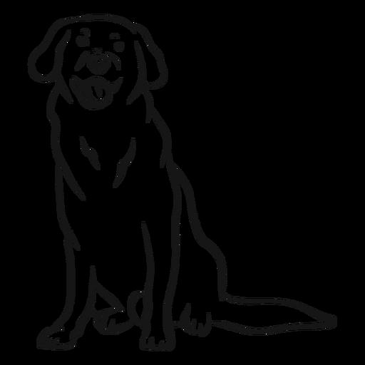 Esboço de língua de rabo de orelha de cão Transparent PNG