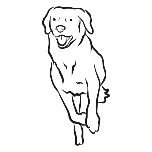 Dog Run Tongue Sketch Transparent Png Svg Vector File