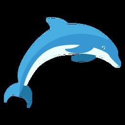 Golfinho flipper cauda nadando plana