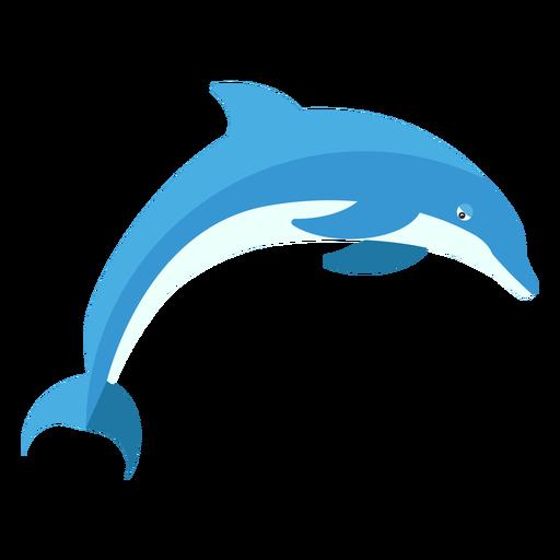 Aleta de aleta de delfines nadando plano Transparent PNG