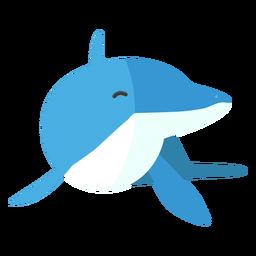 Dolphin tail flipper flat