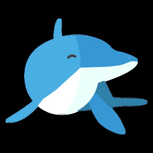 Aleta cola de delfín plana Transparent PNG