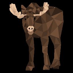 Elk antler hoof moose low poly
